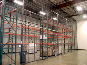 Wire Pallet Rack Partition by Shelf Master, Inc
