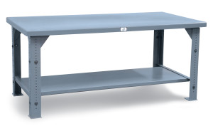 Adjustable Height Shop Table by Shelf Master, Inc