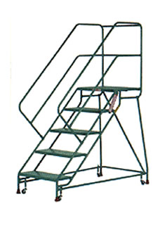 Forward Descent RolaStair Rolling Ladders by Shelf Master, Inc