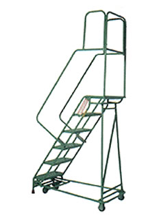 Folding Rolling Ladders by Shelf Master, Inc