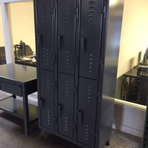 strong hold lockers dark grey